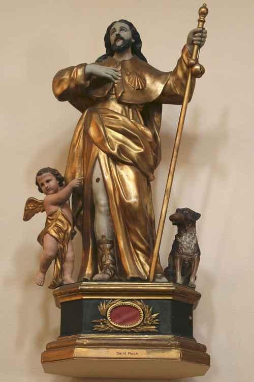 Statue de saint Roch Mazargues http://upload.wikimedia.org/wikipedia/commons/2/2d/Statue_de_saint_Roch-Mazargues.jpg