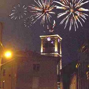Le feu d'artifice du 14 juillet 2015 à Chazelles