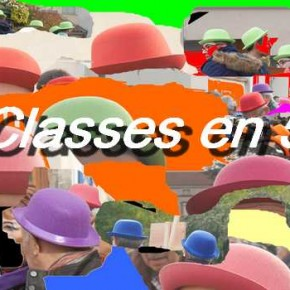 Les classes en 5 défilent en ville.