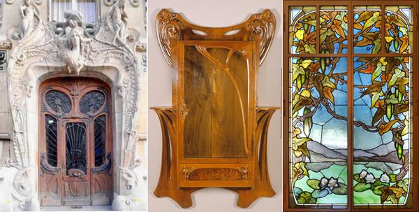 Les fa ades art nouveau et art d co chazelles for Art nouveau interieur