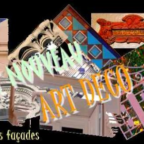 Les façades Art Nouveau et Art Déco à Chazelles.