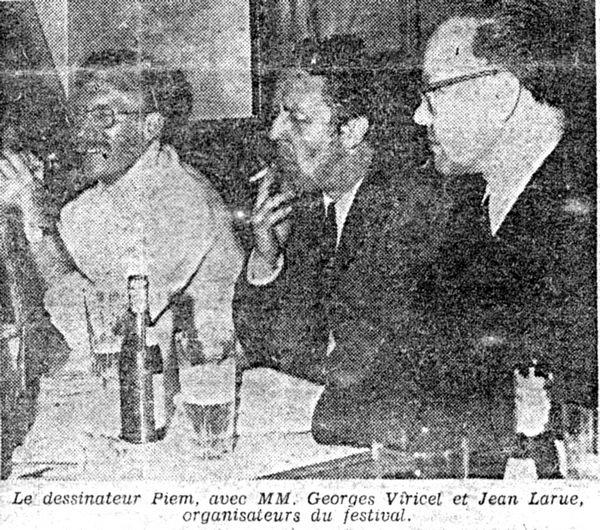 photo de Jean Larue au Festival de la BD à Chazelles en 1970. Il avait initié cette manifestation bien avant Angoulème!