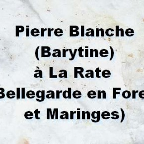 Pierres blanches de Bellegarde, pierres blanches de Maringes...