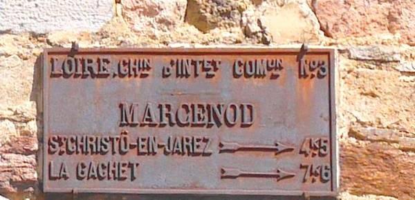 Marcenod: au pied du mont Malherbes