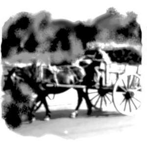 charette 1 cheval
