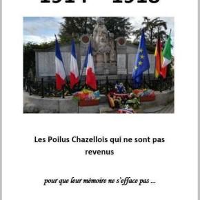 1914-1918 - Les soldats Chazellois qui ne sont pas revenus