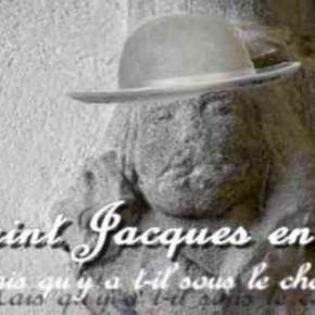 Saint Jacques et un chapeau sont toujours dans l'église à Chazelles.