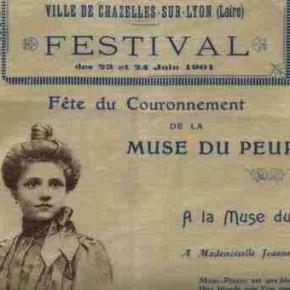 Il y a 111 ans en juin 1901, Fête de la Muse à Chazelles