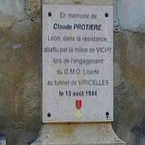 Courage  et honneur: une piqure annuelle de rappel avec la commémoration de l'assassinat de Claude Protière le 13 aout 1944