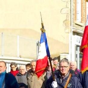 Commémoration de l'Armistice du 11 novembre 1918 à Chazelles-sur-Lyon en 2016