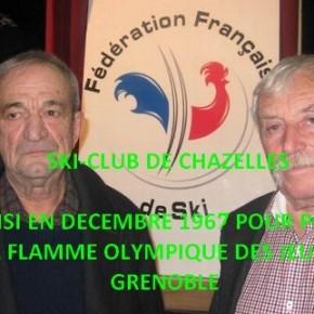 La flamme olympique a été portée par des Chazellois, il y a 50 ans!
